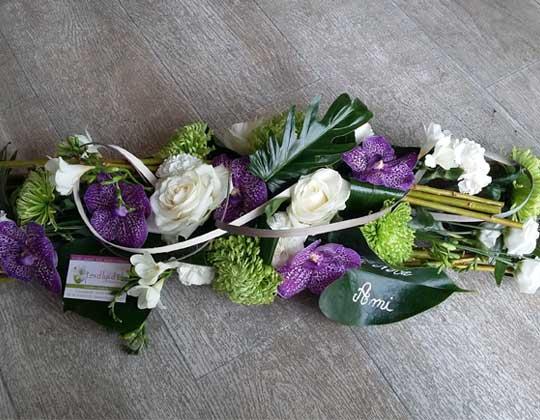 Fleurs lors enterrement
