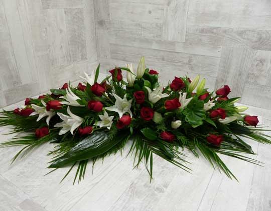 Fleurs lors d'un enterrement