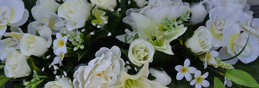 fleurs artificielles funérailles