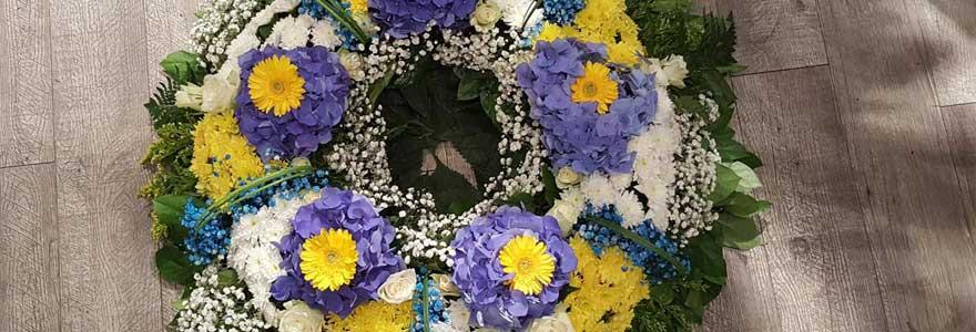 fleurs deuil en ligne