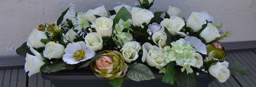 fleurs décorer une tombe