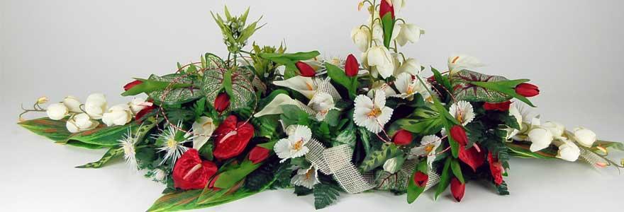 fleurs céramiques pour cimetière