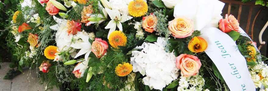 fleurs funéraires pas cher